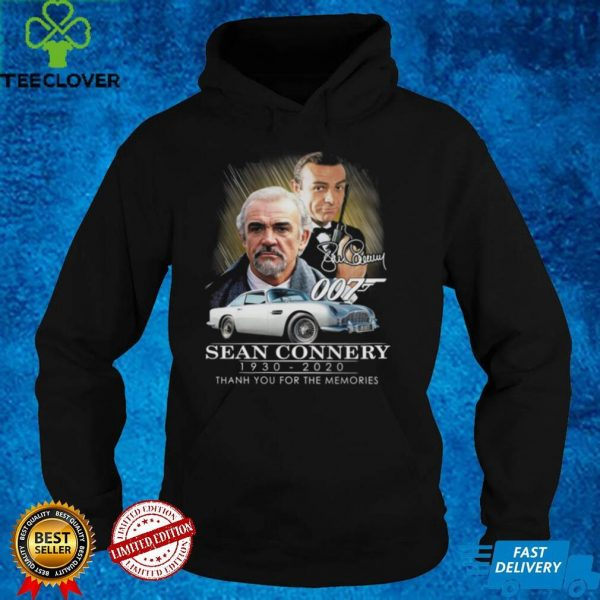 007 Sean Connery 1930 2020 thank you for the memories signatures shirt