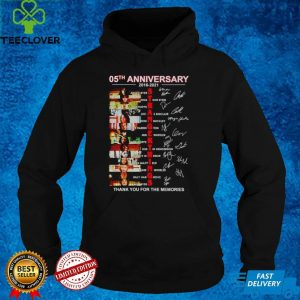 05th Anniversary of Stranger Things 2016 2021 thank you for the memories shirt