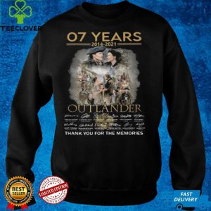 07 Years 2014 2021 Outlander Signatures Thank You For The Memories Shirt