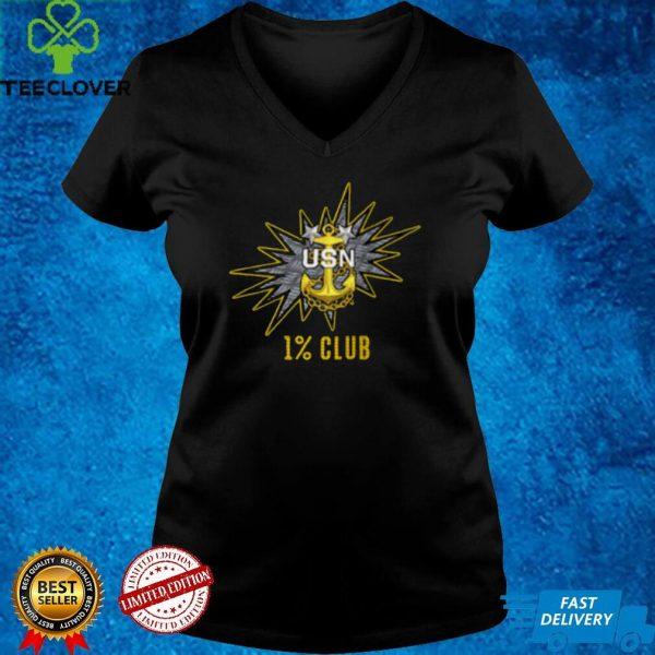 1 Club Navy Master Chief E9 MCPO Pride Shirt