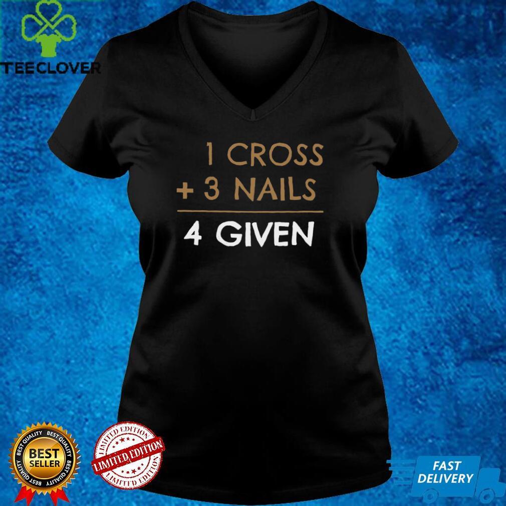 1 Cross 3 Nails 4 Given shirt