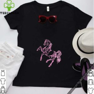 Pink Sparkle Horse T-Shirt For Horse Lover