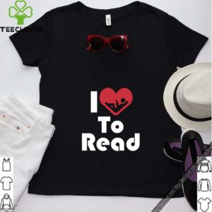 Reader Shirt I Love To Read Heart Tee