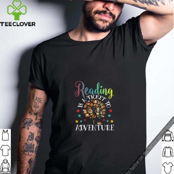 Reading Is A Ticket To Adventure Vintage Reader T-Shirt