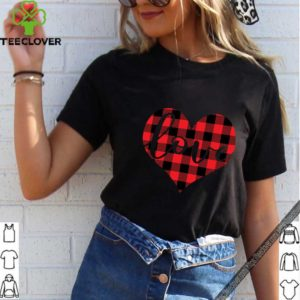 Red Buffalo Plaid Printed Love Heart Gifts Valentine's Day