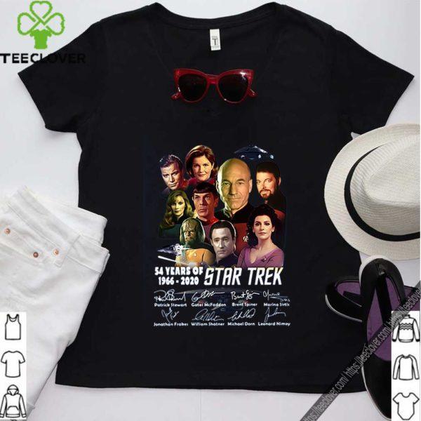 54 Years Of 1966 2020 Star Trek Characters Signatures shirt
