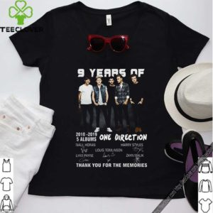9 years of One Direction thank you for the memories signatures shirt