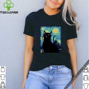 Black Cat Van Gogh shirt