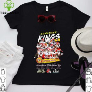 Comeback Kings Kansas City Chiefs Kingdom Super Bowl IV Signed shirt