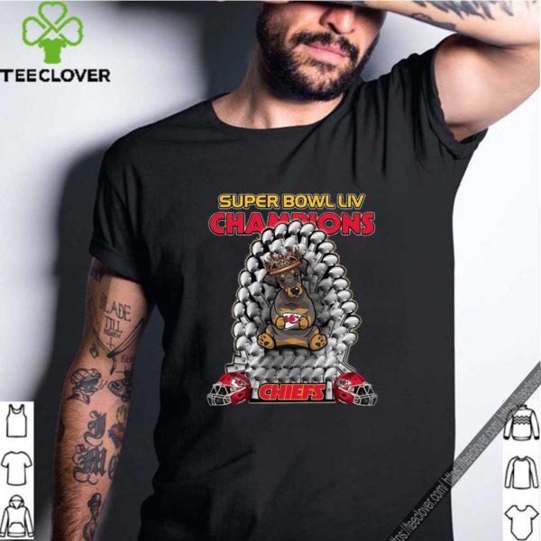 Daschund Iron Throne Super Bowl LIV Champions Chiefs 2020 T-Shirt