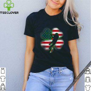 Distressed Lacrosse Flag Shamrocks St Patricks Day shirt