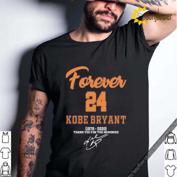 Forever 24 Kobe Bryant 1978 2020 thank you shirt