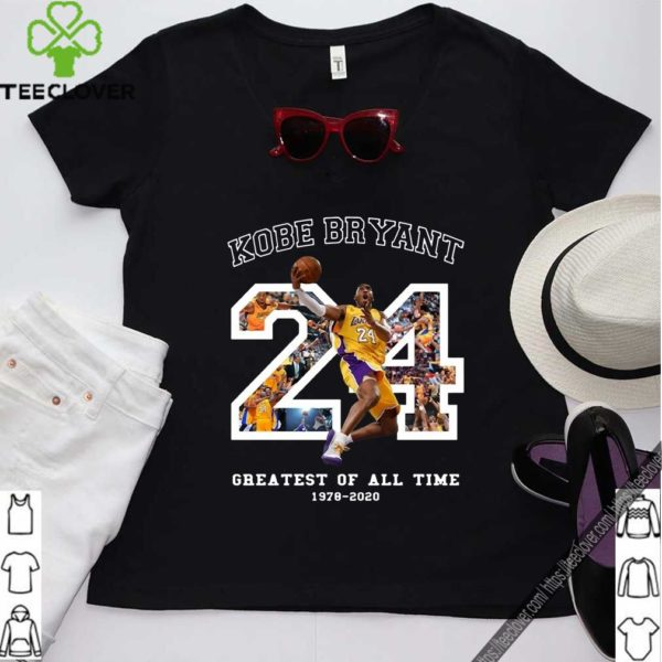 Kobe Bryant Greatest Of All Time Basketball Moments Tribute Los Angeles Number 24 T-Shirt