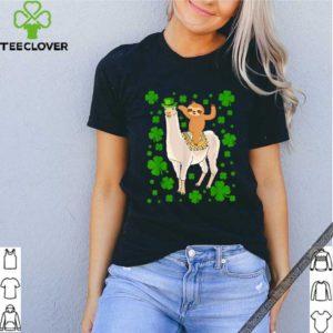 Leprechaun Sloth Riding Llama Unicorn St Patricks Day shirt