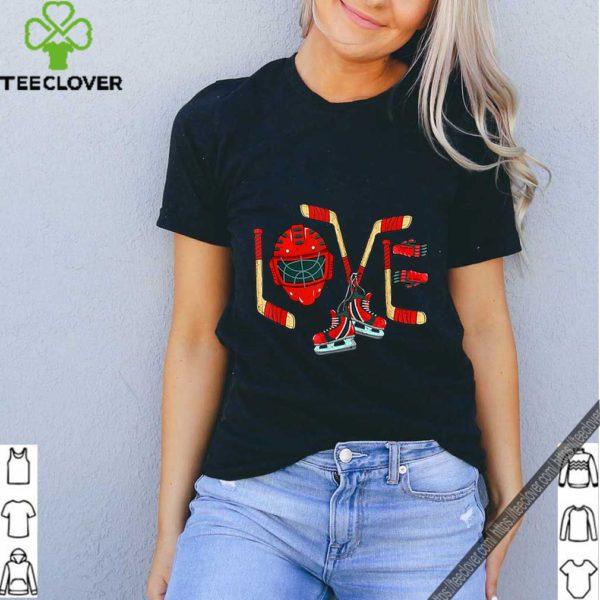 Love Ice Hockey Valentines Day shirt