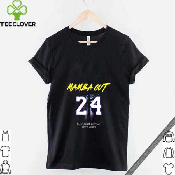 Mamba out 24 Rip Kobe Bryant 1978 2020 shirt