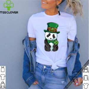 Panda Leprechaun St Patricks Day Boys Kids Girls Shamrock shirt