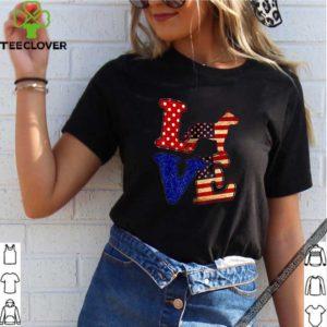 Pitbull 4Th Of July US Flag T-Shirt