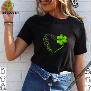 Premium Dragonfly Heart Irish, Shamrock Heart Clover St. Patrick Day shirt