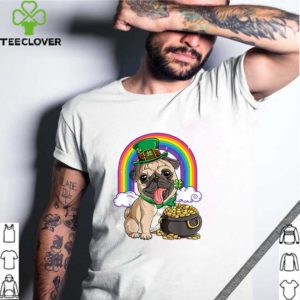 Pretty Pug St Patricks Day Boys Kids Men Leprechaun Dog Lover Gift shirt