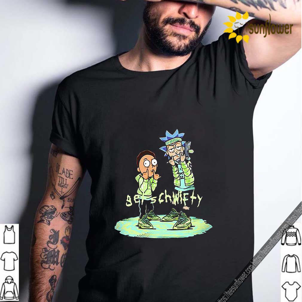 Yeezreel Yeezy 350 Get Schwifty Rick and Morty shirt