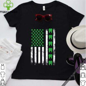 Nice Irish Dentist American Flag Us Tooth Dental St Patrick's Day shirt