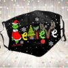 Believe Grinch Christmas Face Mask Santa Hat Facemask Reusable Washable Face Cover Adult