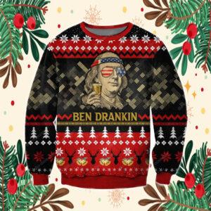 Ben Drankin 3D Print Knitting Pattern Ugly Christmas Sweater