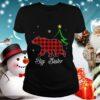 Big Sister Bear Red Plaid Christmas
