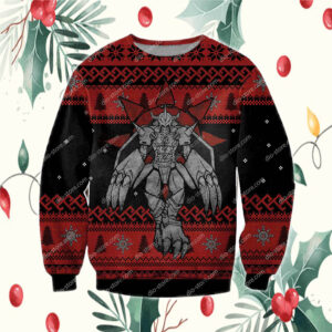 The Grinch hand holding mask 2020 stink stank stunk ugly ChristmasDigimon Wargreymon 3D Print Ugly Christmas Sweatshirt