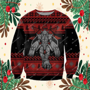 Digimon Wargreymon 3D Print Ugly Christmas Sweatshirt