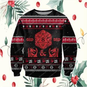 Dungeons & Dragons 3D Print Ugly Christmas Sweatshirt