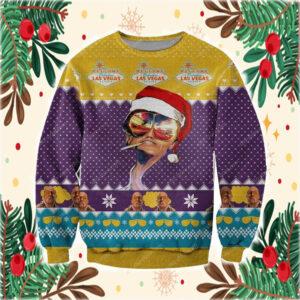 Fabulous Las Vegas 3D Print Ugly Christmas Sweatshirt