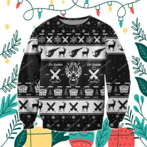Final Fantasy 3D Print Knitting Pattern Ugly Christmas Sweater