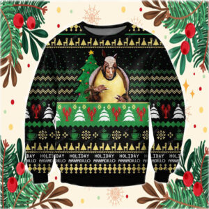 Friends Holiday Armadillo 3D Print Ugly Christmas Sweater
