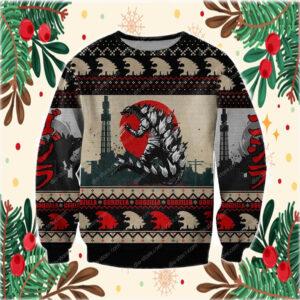 The Grinch hand holding mask 2020 stink stank stunk ugly ChristmasGodzilla Knitting Pattern 3D Print Ugly Christmas Sweater