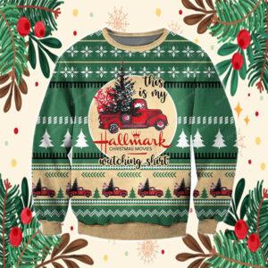 Hallmark Christmas Movies 3D All Over Print Ugly Sweatshirt