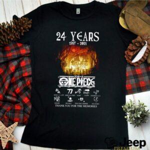 24 Years of One piece 1997 2021 signature shirt 2
