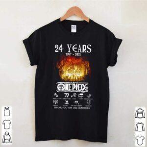 24 Years of One piece 1997 2021 signature shirt 3