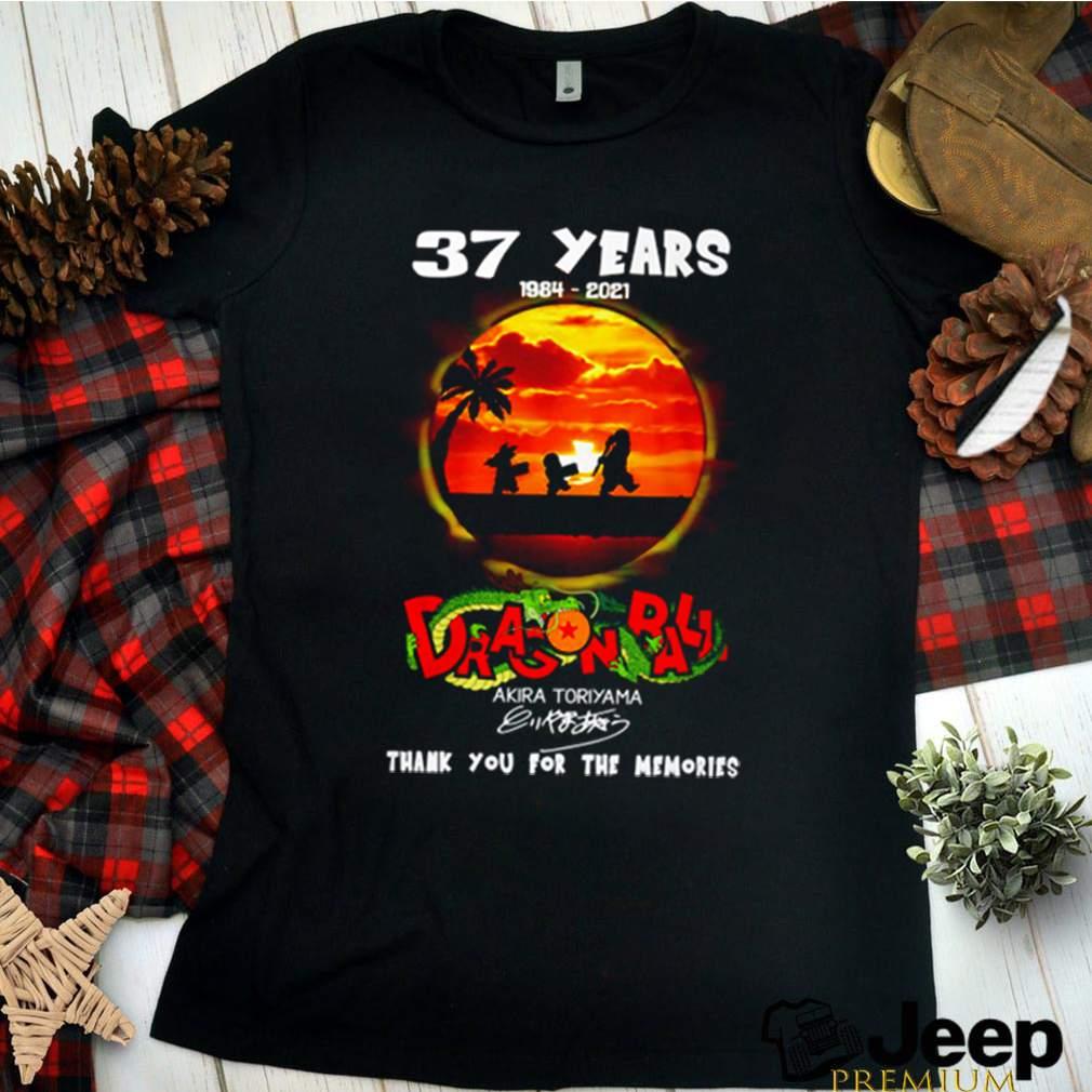 37 Years of dragon balls 1984 2021 Akira Toriyama signature shirt 2