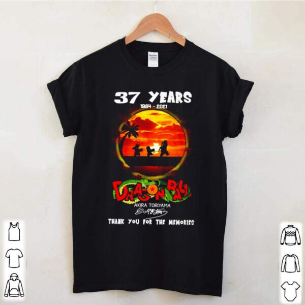 37 Years of dragon balls 1984 2021 Akira Toriyama signature shirt 3