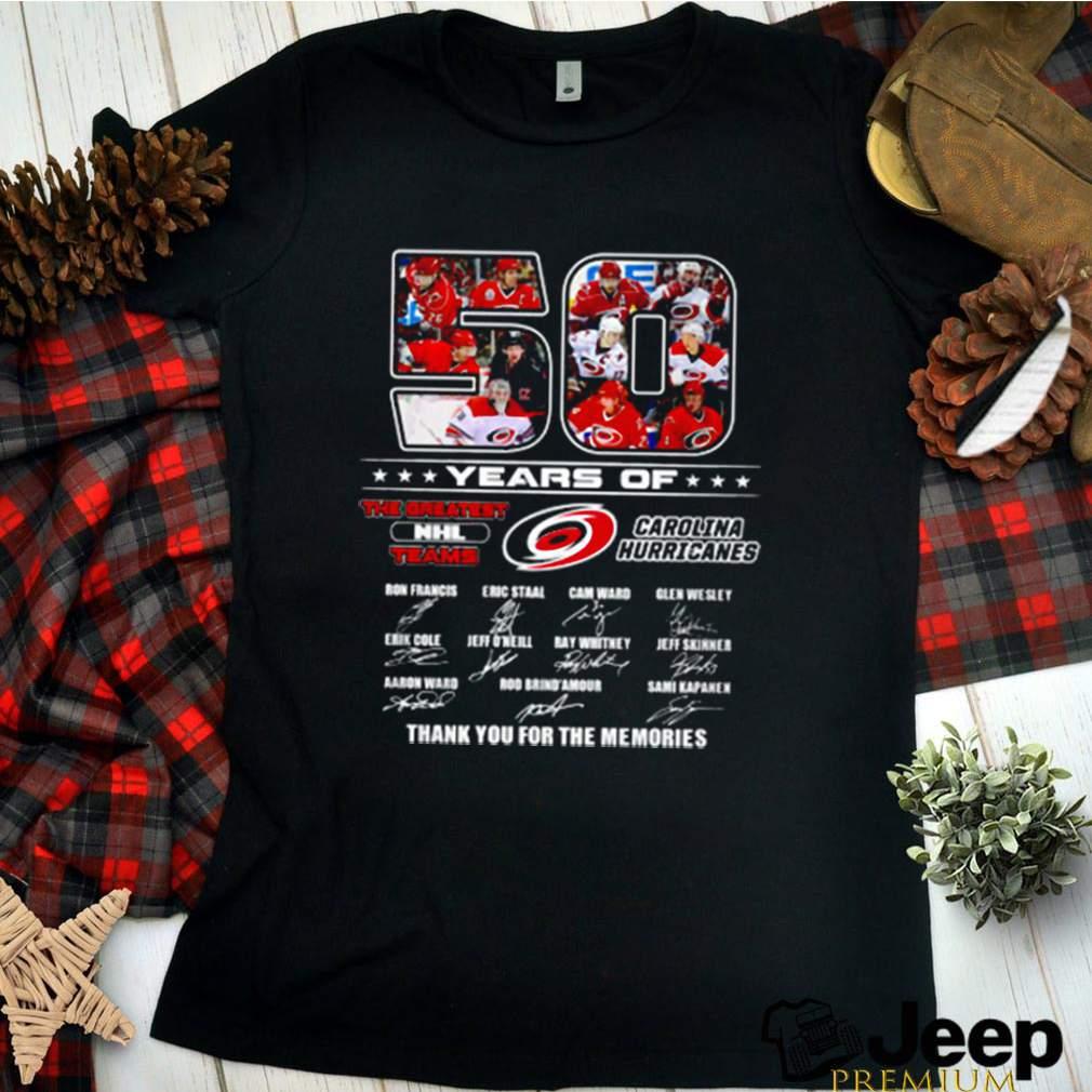 50 Years of Carolina Hurricanes the greatest NHL teams signature shirt 2