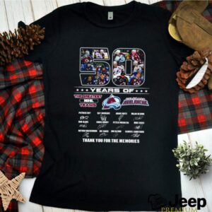 50 Years of Colorado Avalanche the greatest NHL teams signature shirt 2