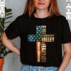 Best Faith Cross American Flag Shirt Walk Through Darkest Valley Veteran Memorial T Shirt
