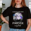 Best Family Memorial Butterfly Moon Shirt Remembrance In Loving Memory T Shirt