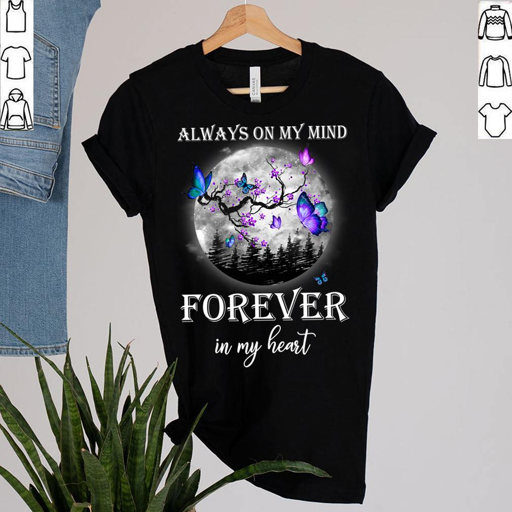Best Family Memorial Butterfly Moon Shirt Remembrance In Loving Memory T Shirt 2