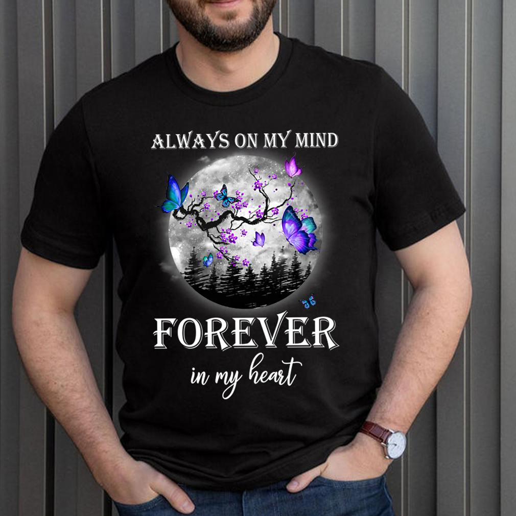 Best Family Memorial Butterfly Moon Shirt Remembrance In Loving Memory T Shirt 3