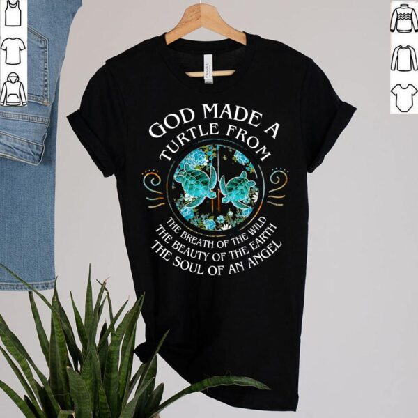 Best Hippie Turtle Lovers Motivation Shirt Sea Turtles Floral Ocean T Shirt 2