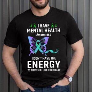 Best Mental Health Matter Survivor Birthday Shirt Butterfly Ribbon Awareness T-Shirt 8