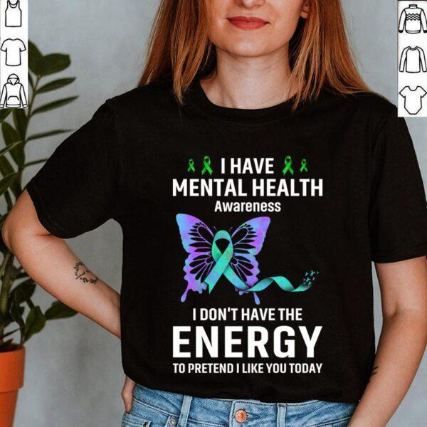 Best Mental Health Matter Survivor Birthday Shirt Butterfly Ribbon Awareness T-Shirt 5